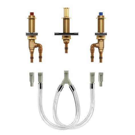 moen  handle  hole roman tub adjustable rough  valve