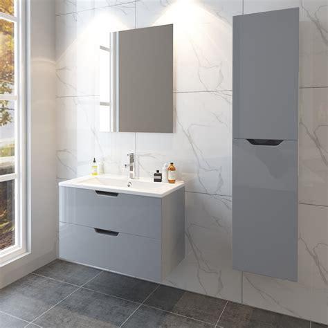 grey bathroom storage cabinet grey gloss basin sink bathroom vanity unit furniture