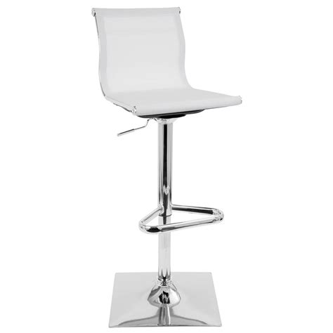 Lumisource Adjustable Bar Stool by Lumisource Mirage White Adjustable Height Bar Stool Bs Tw