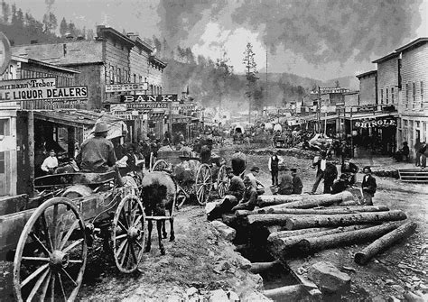 Colorado Home Decor by Deadwood South Dakota C 1876 Digital Art By Daniel Hagerman