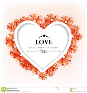 valentines day greeting card or gift card with floral decorative stock photo image 28673030