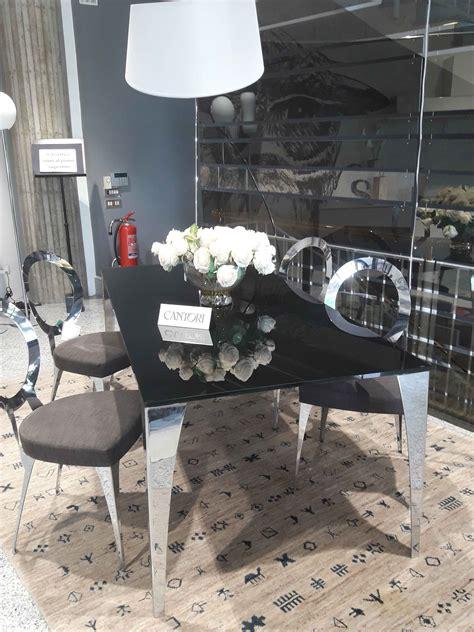 sedie cantori tavolo design cantori cristallo vetro verniciato sedie