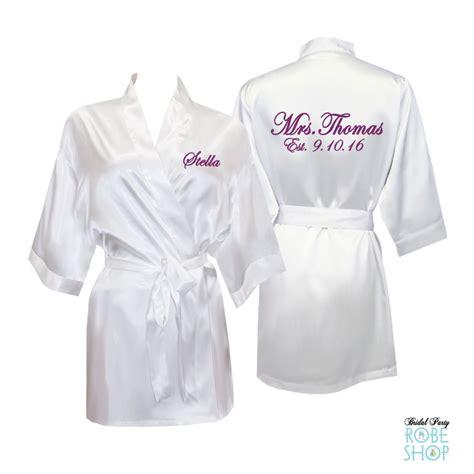 Bridal Robes by Bridal Bathrobes Personalized Australia Mini Bridal