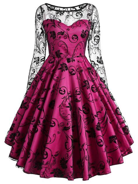 Dress Hoodie Fashion vintage dresses 2xl vintage sleeve lace overlay dress gamiss
