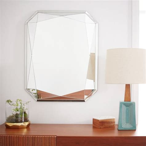 faceted mirror emerald cut west elm