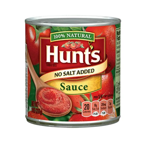 carbs in hunt s spaghetti sauce hunts tomato sauce nutrition facts