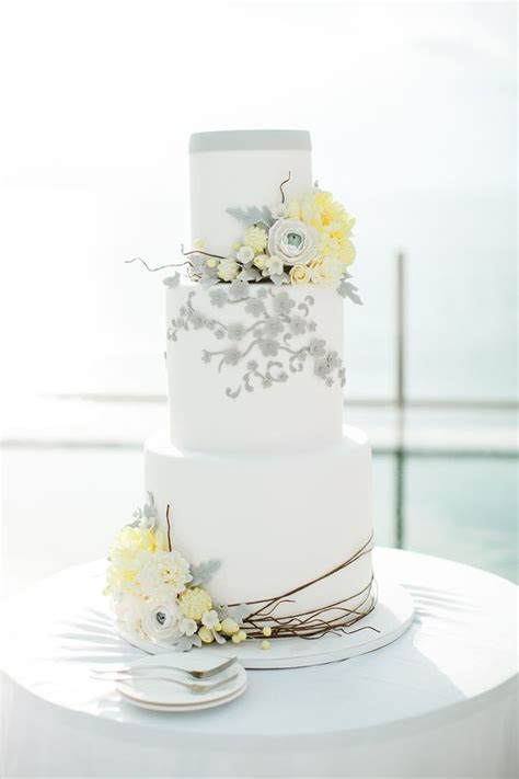 yellow and grey wedding cakes a wedding cake blog tiered wedding cakes bali wedding and florals on pinterest
