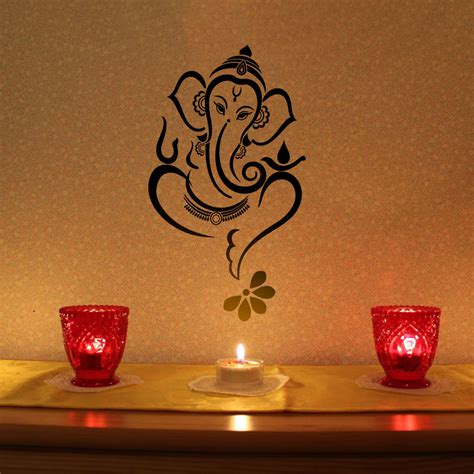 wall sticker images floral ganesha vinyl wall sticker buy floral ganesha