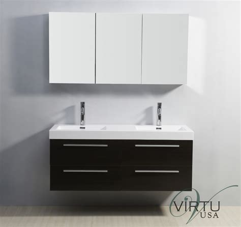 54 Inch Double Sink Bathroom Vanity with Soft Closing