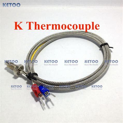 Promo Promo Thermocouple Type K Dekko Tp 5 5 Meter 1m thread spade terminals thermocouple cable type k thermocouple size m6 1 jpg
