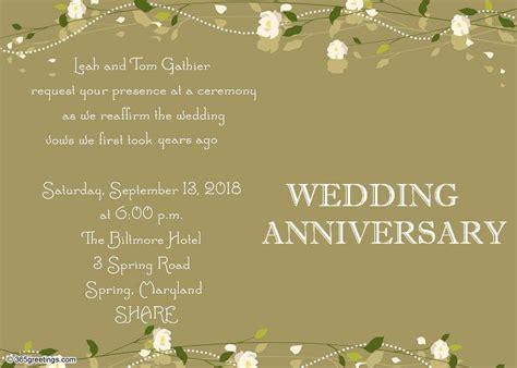 wedding anniversary invitation wording thanksgiving invitation wording 365greetings