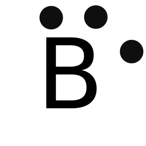 lewis dot diagram for boron file lewis dot b svg wikimedia commons