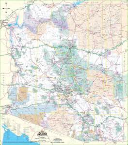 map of arizona large detailed map of arizona with cities and towns
