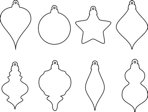clipart christmas ornament shapes