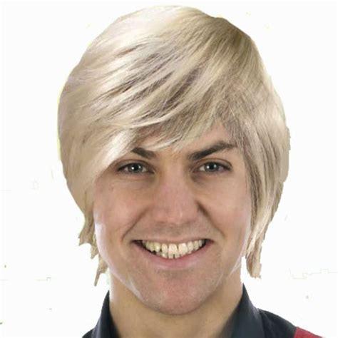 popular man blonde wig buy cheap man blonde wig lots from wigs male guy boy band style wig blonde glowsticks