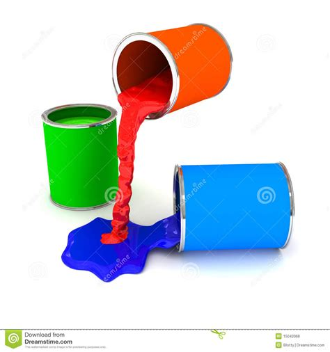 rgb color paint can white royalty free stock photos image 15042068