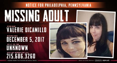 pennsylvania missing persons missing person valerie dicamillo philadelphia