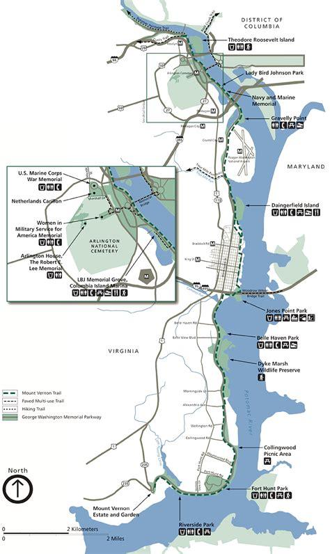 mt vernon trail map visit mount vernon by bike 183 george washington s mount vernon