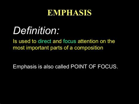 design definition of emphasis elements and principles emphasis
