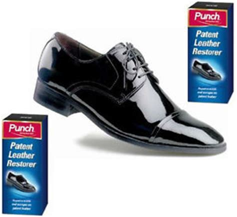 punch patent leather repair restorer for scuffs and