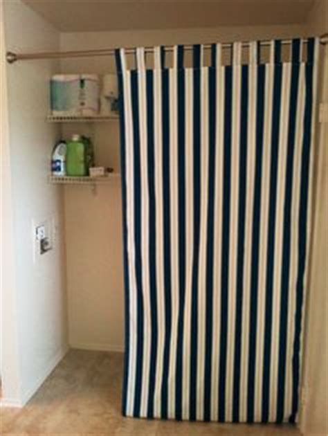 hide  washer  dryer  easy diy gathered curtains