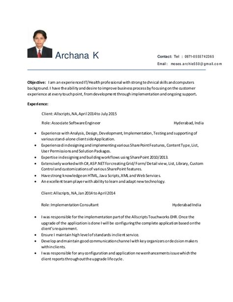 Sharepoint Developer Resume sharepoint developer resume