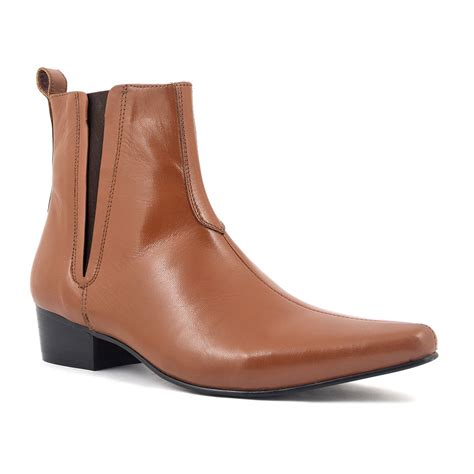 Heeled Pointed Boots elvis pointed heel chelsea boot gucinari