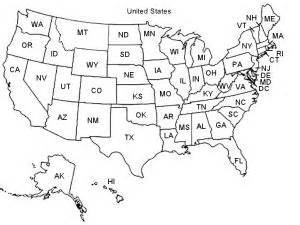 map of the united states with abbreviations for geography geography maps