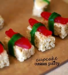 cupcake cutiees sushi sweet treats party recipe
