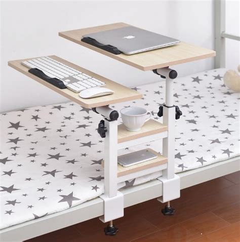 Folding Bedside Shelf by Dormitory Removable Laptop Table Height