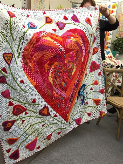 heart pattern bedding pieces of my heart quilt by wendy williams photo by