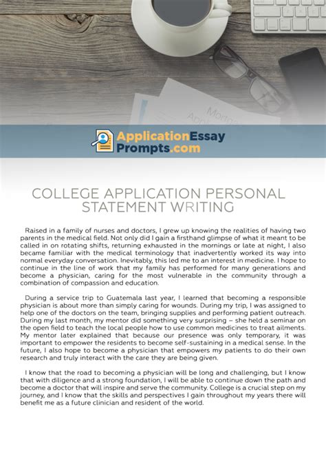Personal Essay For College Admission Sles by College Application Personal Statement Writing Service Application Essay Prompts