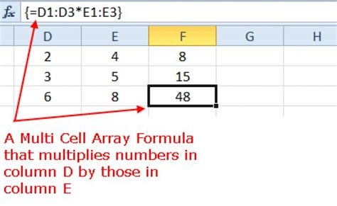 tutorial about excel formulas how excel multi cell array formulas work step by step