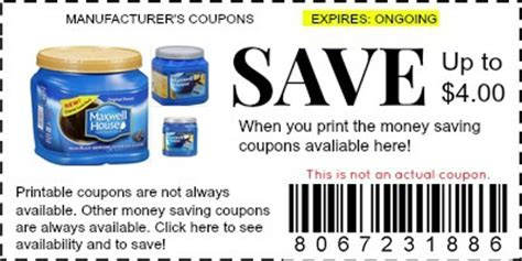 printable maxwell house coupons maxwell house coffee coupons manufacturer coupons
