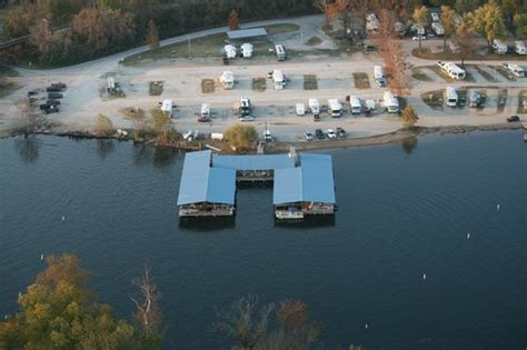 scotty s boat rental branson aerial view shows lakeside rv park in background picture