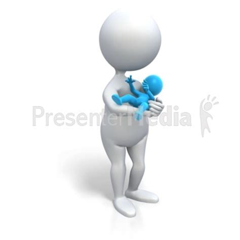 Mom Holding Baby Boy Medical And Health Great Clipart Presenter Media Images