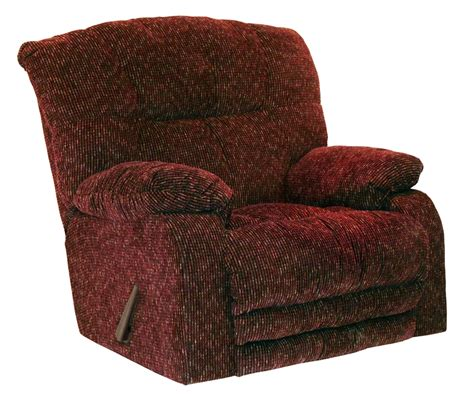 extra large rocker recliner maris oversized rocker recliner in wine color fabric by