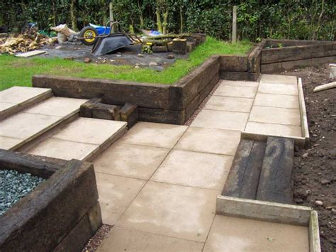 How To Lay Sleepers by The Clarke S Landscaping With Railway Sleepers