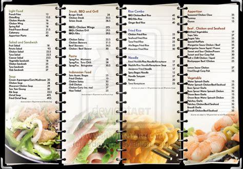 carta de un restaurante ideas to make a restaurant menu design and restaurant