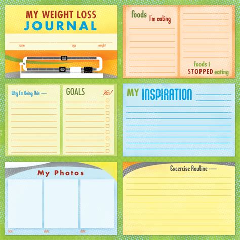 printable weight journal 7 best images of weight loss journal printable template