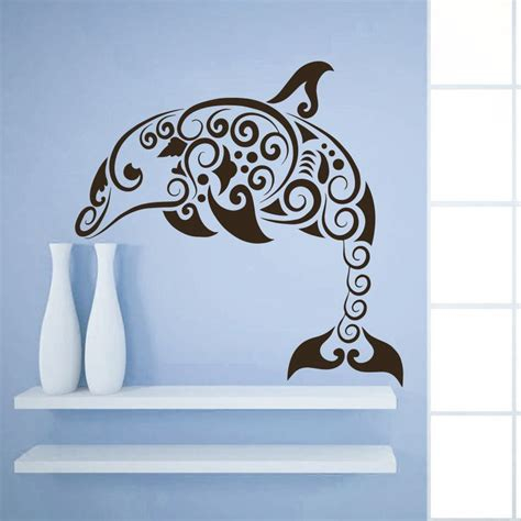 dolphin home decor details about wall decal dolphin animal sea art decals