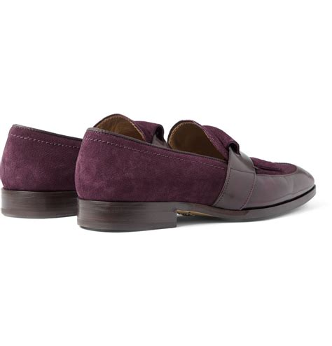 mens purple loafers jimmy choo radnor leather and suede loafers in purple for