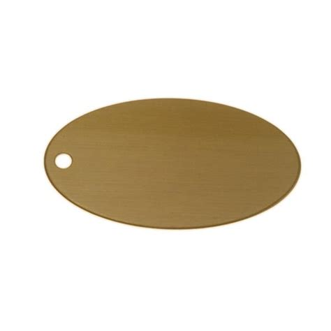 lacquered brass lacquered brass oval tag 2 5 inch x 1 375 inch blank