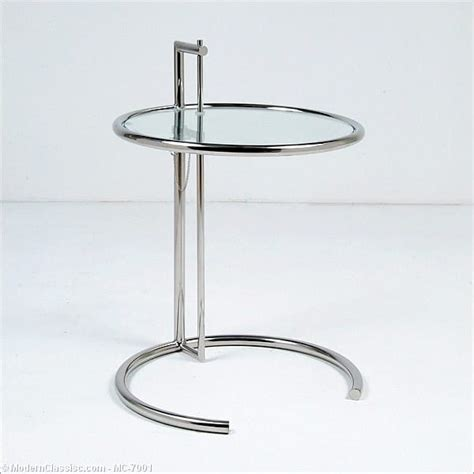 eileen gray adjustable side table modernclassics