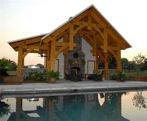 Timber Frame Pool Pavilion Traditional Pool Timber Frame Pool House Plans