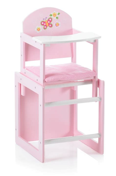 bayer chic 2000 butterfly dolls wooden high chair