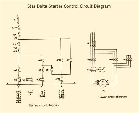delta starter power circuit diagram