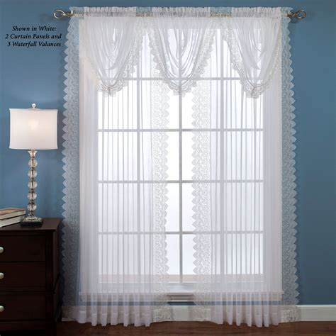 Sheer Window Curtains Semi Sheer Lace Window Treatment
