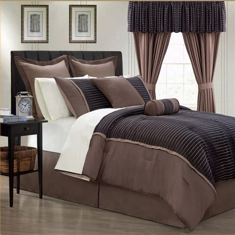 24 piece bed set limbo 24 piece brown contemporary bed in a bag with sheet