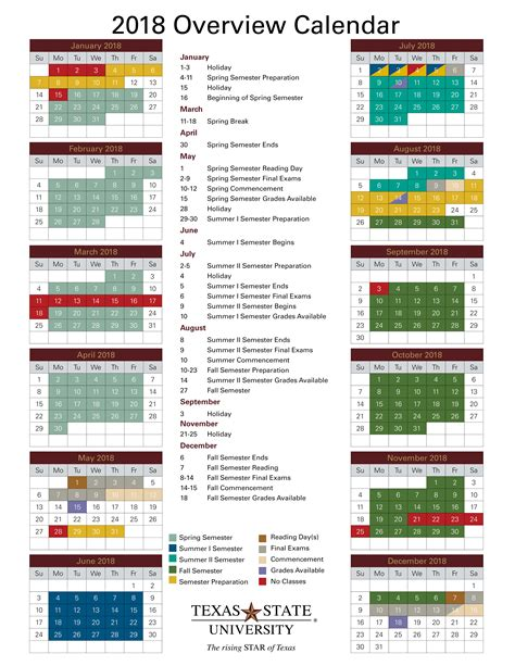 Academic Calendars Academic Calendar Office Of The Registrar